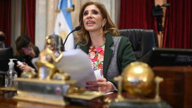 Claudia Ledesma Abdala presidió una parte importante de la sesión Charly Diaz Azcue / COMUNICACION SENADO.