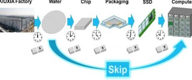 Shigeo Oshima, director de Ingeniería de Kioxia, propuso eliminar todos los pasos de fabricación de un SSD excepto el primero. (mynavi.jp)
