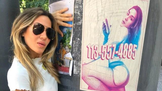 """La semana pasada, Jimena Barón lanzó una campaña que simulaba un volante callejero de una prostituta para promocionar su tema """"Puta"""". El tema puso en el debate público una discusión que atraviesa y divide al feminismo (@jmena)"""