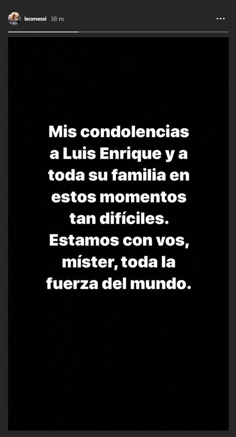 El mensaje de Lionel Messi en Instagram