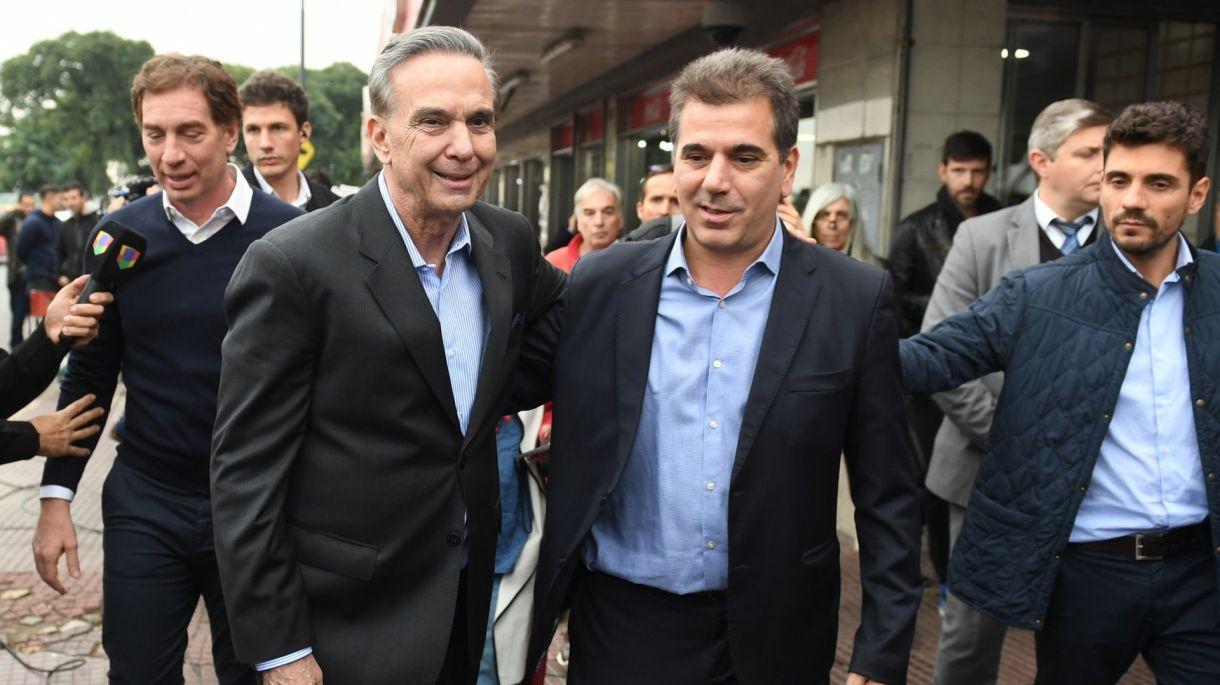 Miguel Ángel Pichetto y Cristian Ritondo (Maximiliano Luna)