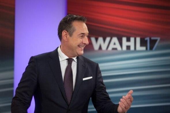 Heinz-Christian Strache, líder de la ultraderecha y tercero en las elecciones(AFP)