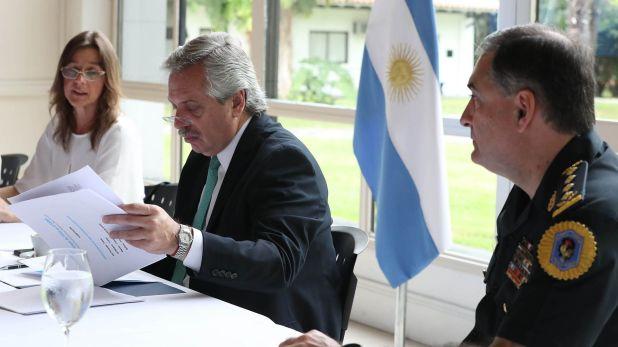 Alberto Fernández y la ministra Sabina Frederic (Prensa Presidencia)
