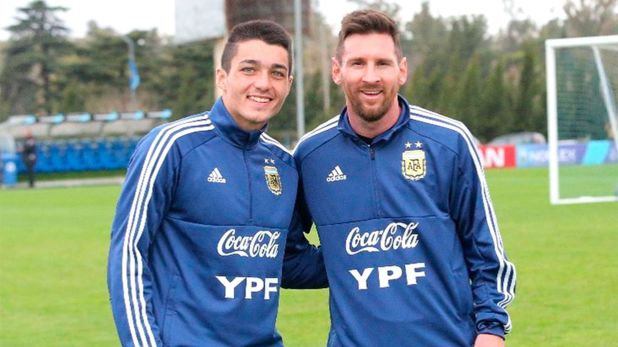 Palacios junto a Messi, uno de sus ídolos (@mati.palacioss)