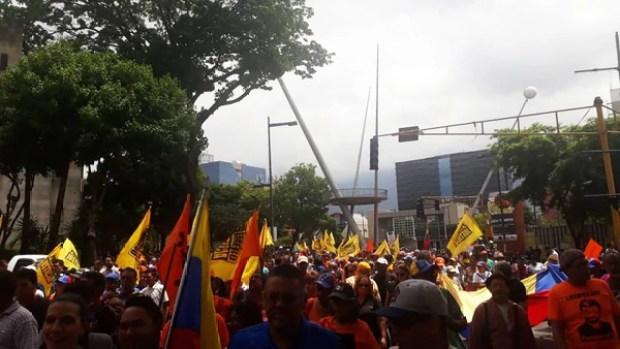 Los manifestantes se movilizaron desde Chacaíto