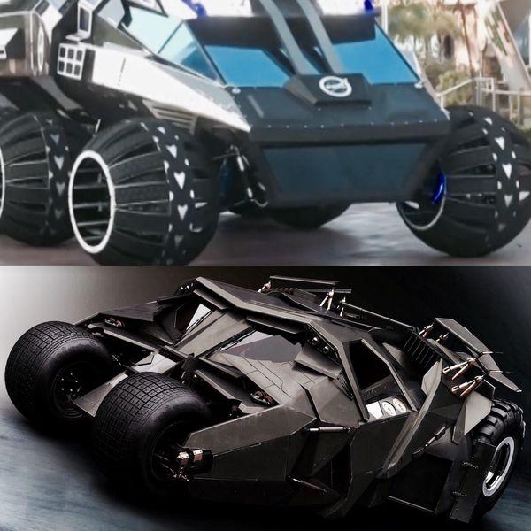 """Las similitudes con el Batimóvil de la película """"Batman Begins"""" son notorias"""