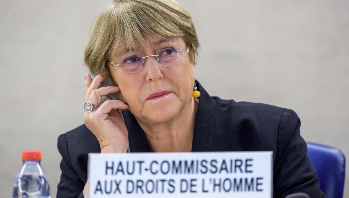 La Alta Comisionada de las Naciones Unidas para los Derechos Humanos, Michelle Bachelet, participa en la sesión de apertura del Consejo de Derechos Humanos de las Naciones Unidas el 9 de septiembre de 2019 en Ginebra (Foto de FABRICE COFFRINI / AFP)