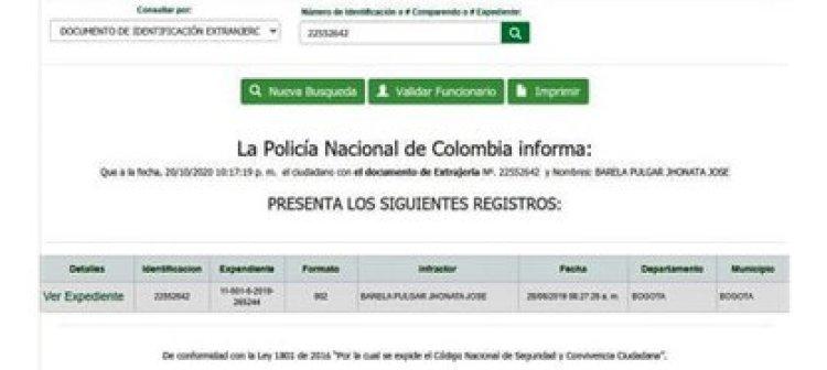 Barela Pulgar tendría antecedentes en Colombia