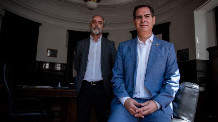 Retratos de los diputados Claudio Morresi y Santiago Roberto