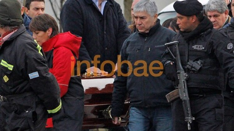 Sorprendió el fuerte operativo de seguridad que acompañó al detenido al cementerio