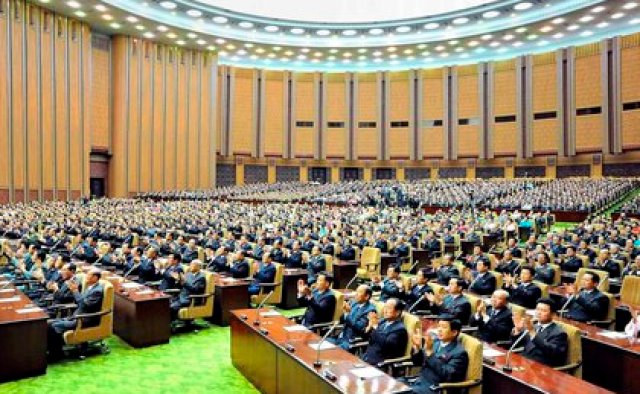 Vista general la Asamblea Popular Suprema de Corea del Norte en Pyongyang, Corea del Sur. EFE/Yonhap/Archivo