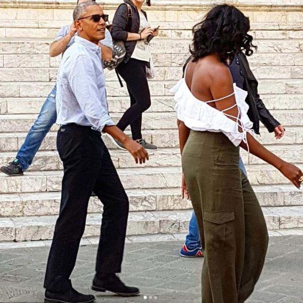 El descuido de Michelle Obama en su look que recorrió los medios del mundo (AP)