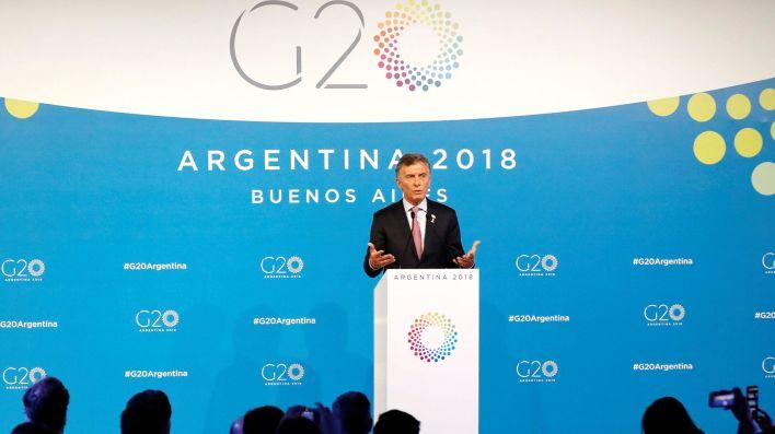 Mauricio Macri en la Conferencia de G20.