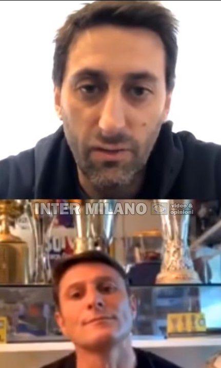 Diego Milito y Javier Zanetti compartieron una charla en un vivo de Instagram