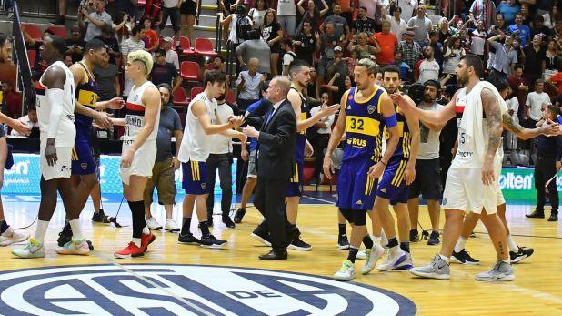 El Che García saludó a todos los jugadores después del partido