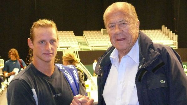 Enrique Morea junto a David Nalbandian (NA)