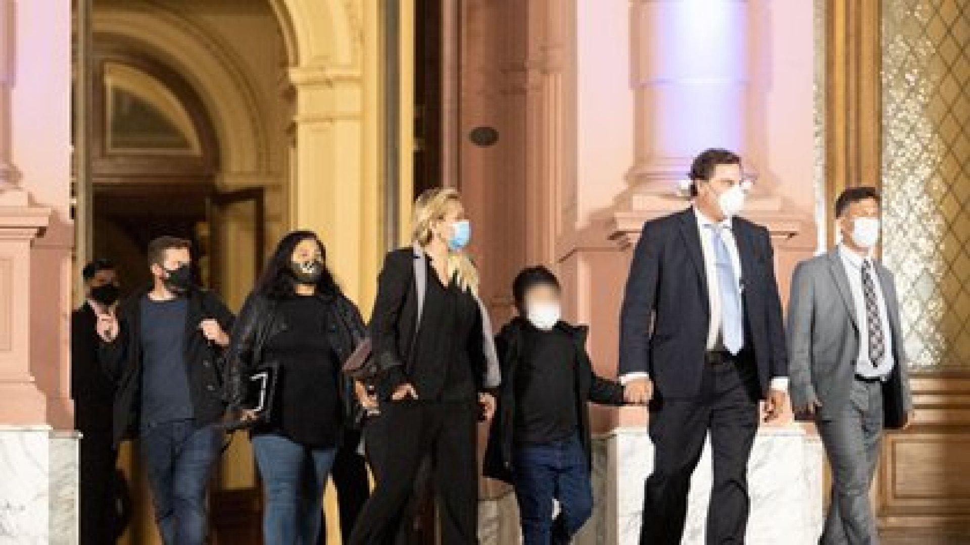 Veronica Ojeda y su hijo Dieguito Fernando (Tony Gómez)
