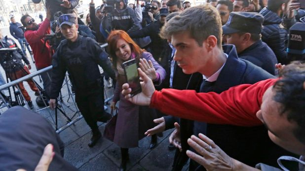 Cristina Kirchner al ingresar al Senado (Foto de achivo)