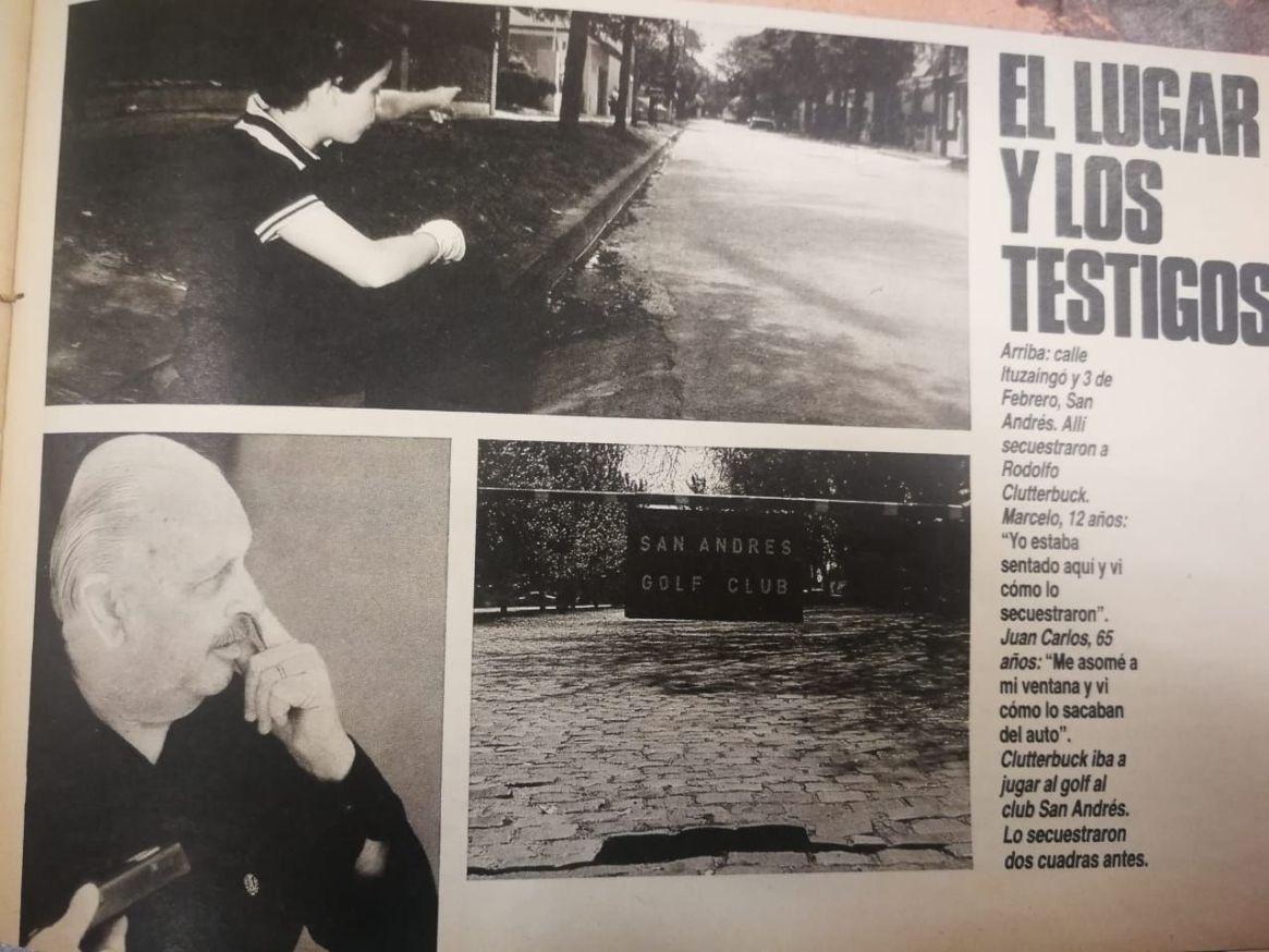 Caso Clutterbuck. Las fotos de la revista Gente en los días posteriores al secuestro