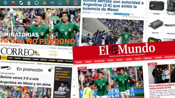 Así cubrieron la victoria por 2 a 0 los diarios bolivianos