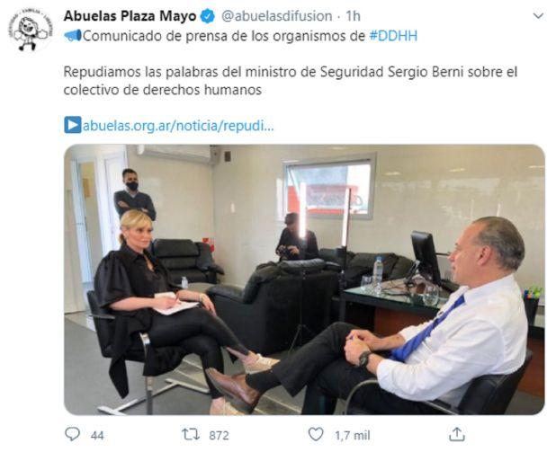 Abuelas de Plaza de Mayo - Sergio Berni