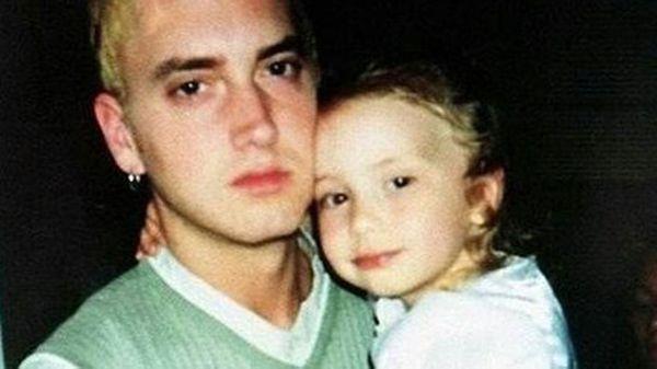 Eminem y Hailie, cuando ella tenía apenas dos años