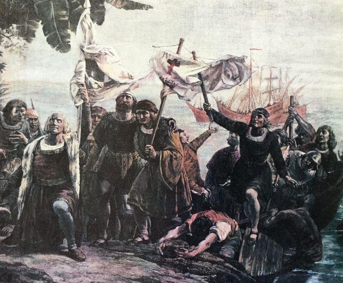 Llegada de Colón a América.