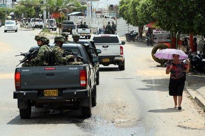 En la región fronteriza los grupos disidentes se enfrentan por los territorios dejados por las desmovilizadas FARC (EFE/Mauricio Dueñas/Archivo)