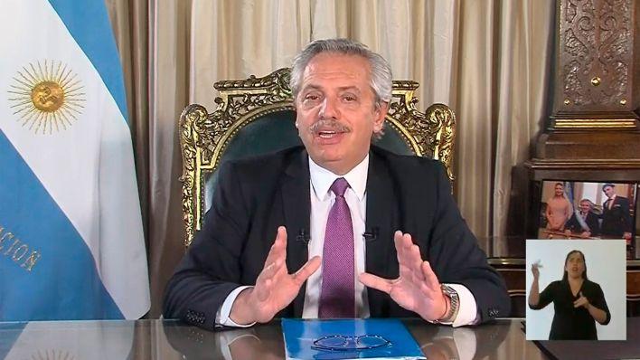 Alberto Fernández habló por Cadena Nacional (Foto NA)
