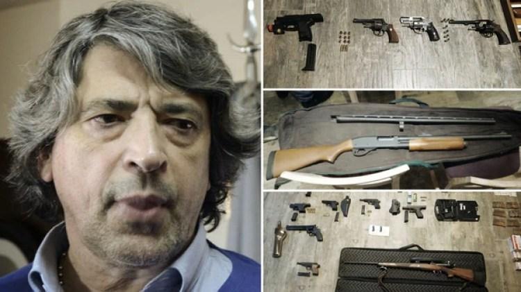El ex juez Melazo fue detenido en su casa de la localidad de Gonnet con una variedad de armas.