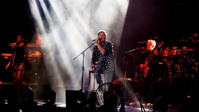 Montaner, durante su show en el Festival de Villa María (Thomas Khazki)