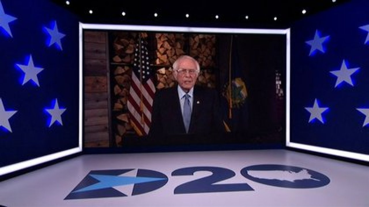 Bernie Sanders.   2020 Democratic National Convention/POOL via REUTERS