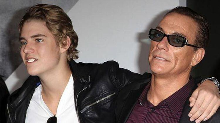 Nicholas van Varenberg junto a su padre, el célebre actor Jean-Claude van Damme