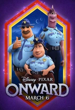 La oficial Spector (arriba a la derecha) junto al oficial Colt Bronco y a la oficial Gore, personajes de la película