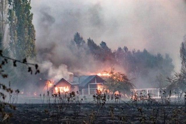 Las Golondrinas, una de las zonas más afectadas por el fuego