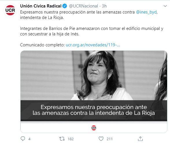 Unión Cívica Radical en Twitter