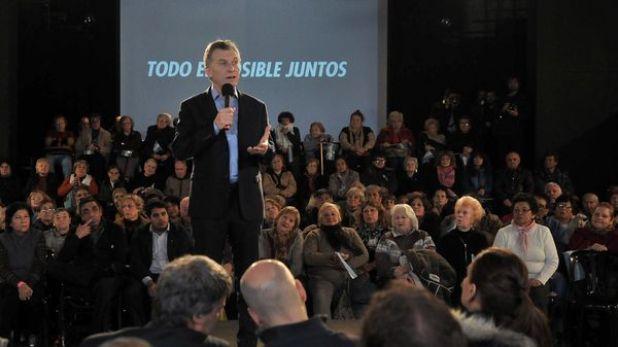 El presidente Mauricio Macri durante la presentación del Programa de Reparación Histórica a Jubilados y Pensionados