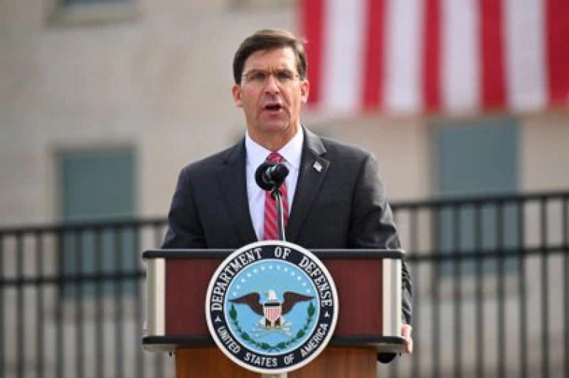 El ahora ex secretario de Defensa, Mark Esper. Foto: REUTERS/Erin Scott
