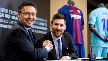 Lionel Messi aimed against Josep Maria Bartomeu (Reuters)