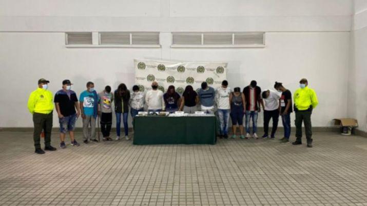 Las capturas se lograron durante el despliegue de 18 procesos de allanamiento. Foto: Fiscalía General de la Nación