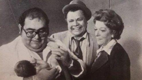 """Junto a Edgar Vivar y Angelines Fernández, con quienes también trabajó en El Chavo del 8, protagonizó la taquillera película """"El Chanfle"""", en 1979 (Foto: Twiter)"""