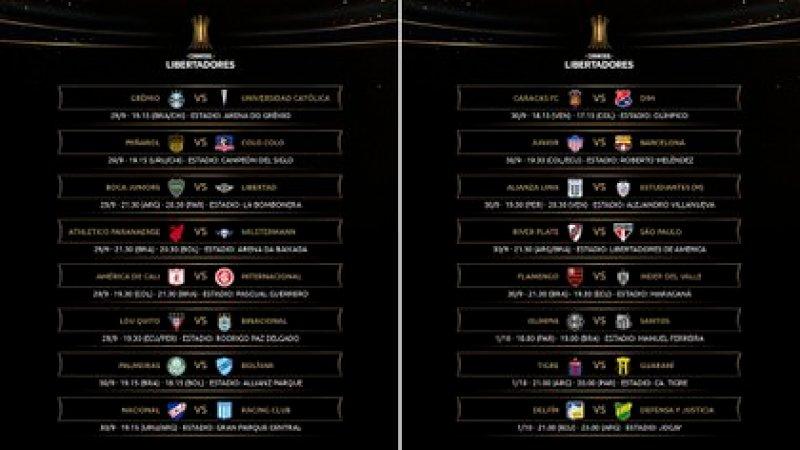 Así se desarrollará la quinta jornada de la fase de grupos de la Copa Libertadores