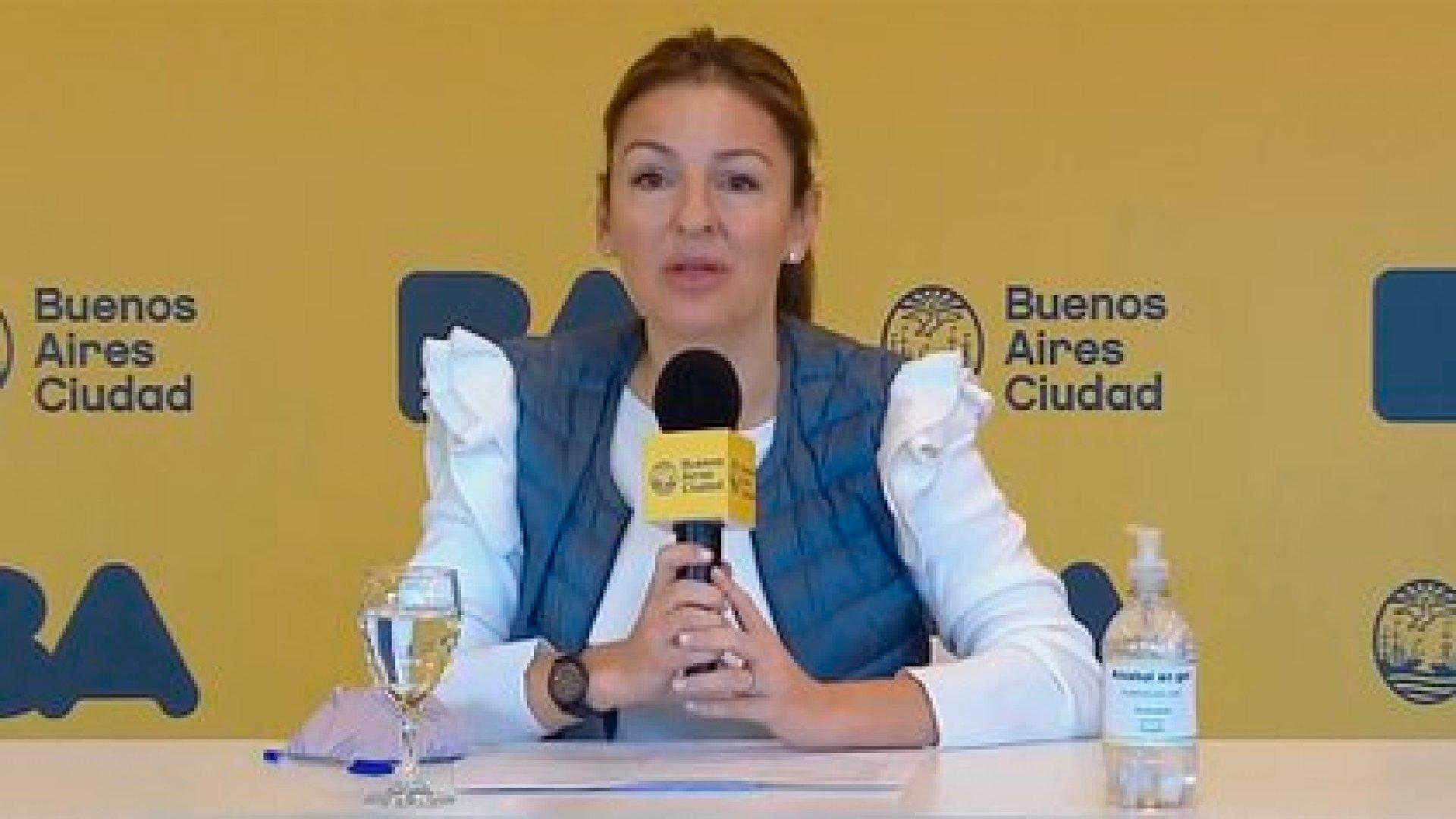 La ministra de Educación Soledad Acuña