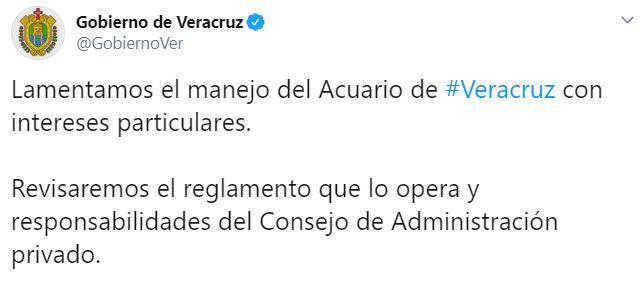 El gobierno de Veracruz informó que ya inició una investigación administrativa (Foto: Twitter/GobiernoVer)