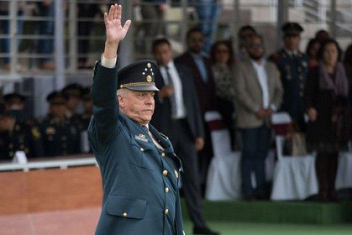 El general pasó 34 días preso en EEUU y fue devuelto a México con la promesa de que sería procesado, pero la FGR no le encontró irregularidades (FOTO: MARIO JASSO /CUARTOSCURO.COM)