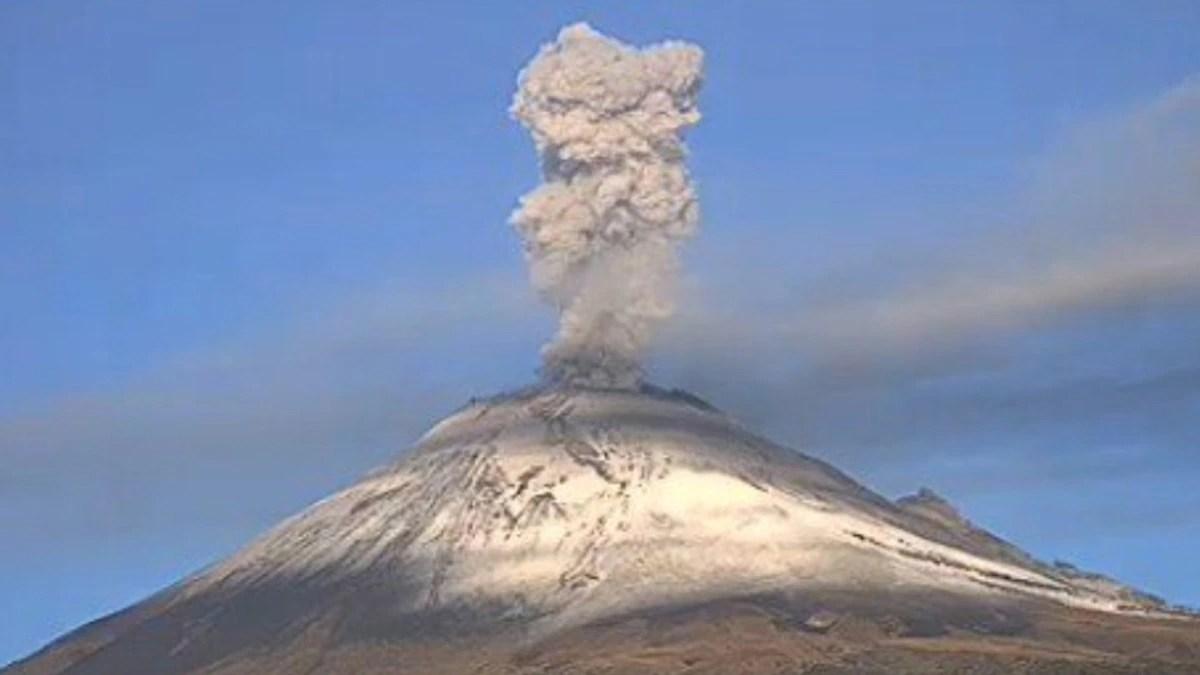 Volcán Popocatépetl: las impresionantes explosiones del coloso este miércoles