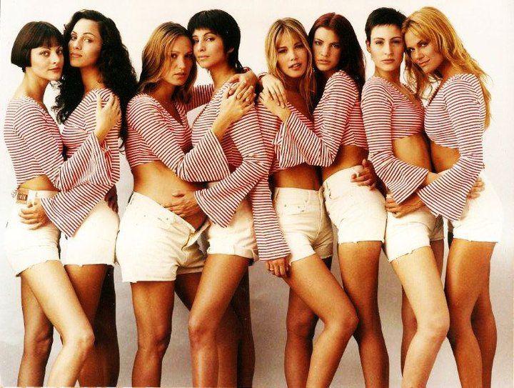 Las Dotto Models. Entre ella, Carolina Rautenberg, Carolina Peleritti, Valeria Mazza, Deborah del Corral y Elizabeth Márquez