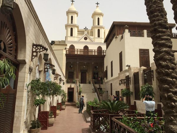 La Iglesia San Sergio en El Cairo, uno de los sitios por los que pasó Jesús en su exilio egipcio