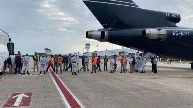Un segundo vuelo devolvió a más de cien hondureños a su país de origen (Foto: Insituto Nacional de Migración)