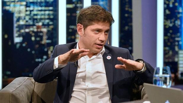 El gobernador bonaerense, Axel Kicillof